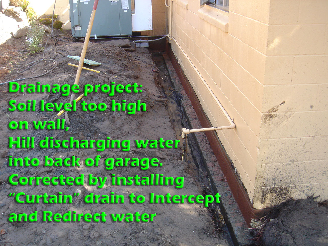French drain design curtain drain 28 images land for Kitsap septic